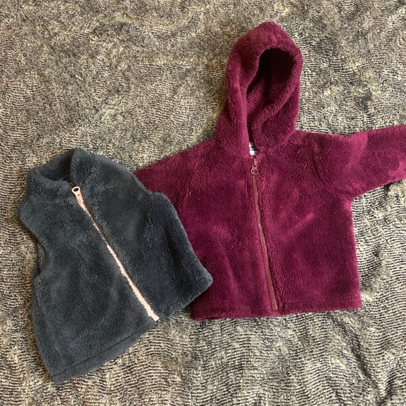 Old Navy Other - Fuzzy Old Navy jacket and Vest Bundle